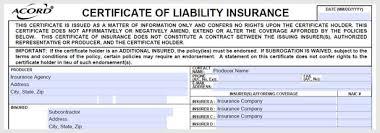 subcontractor insurance requirements tst construction