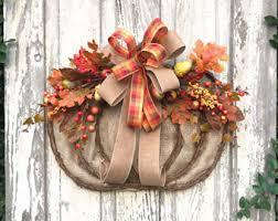 autumn wreath fall swag pumpkin swag autumn swag metal pumpkin swag fall