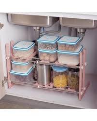 easy home expandable under sink shelf get this amazing shopping deal on outgeek cabinet organizer 2 tiers