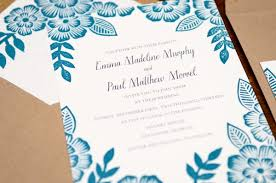 where to print wedding invitations paul s floral block printed wedding invitations