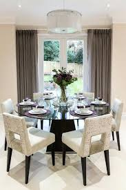 glass dining room sets decorative dining room transitional design ideas for french round