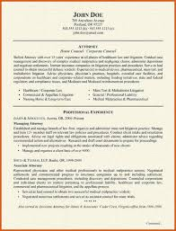Sample In House Counsel Resume by Sample Attorney Resume General Resumes
