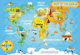 Australian World Map by Kid S World Map Stock Photo Picture And Royalty Free Image Image