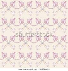 Shabby Chic Style Wallpaper by Retro Seamless Design Vintage Roses Keys Stock Vector 380844427