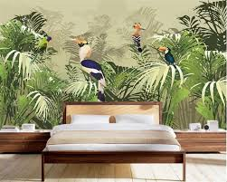online buy wholesale palms leaves wall from china palms leaves beibehang 3d wallpaper retro tropical rainforest parrot palm leaf living room tv background wall wallpaper for
