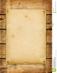 blank vintage poster nailed on a wood board stock photo image