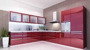 modular kitchen cabinets sweet red gloss finished modular kitchen cabinets with wall