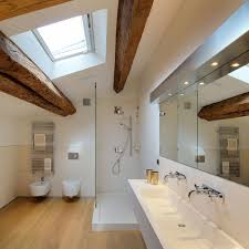 bathroom incredible cool bathroom with beams home interior design