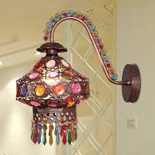 Decorative Wall Sconces E14 E12 Colorful Beaded Decorative Wall Sconces