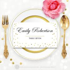 Tent Card Designs Glam Gold Place Card Wedding Instant Download Diy Editable