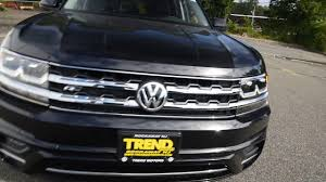 volkswagen atlas black brand new 2018 volkswagen atlas se technology r line walk around
