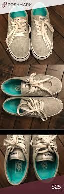 light gray vans womens women s light gray vans shoes size 7 5 grey vans van shoes and
