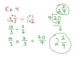showme dividing mixed number using models