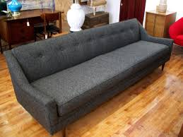 Vintage Modern Sofa Gentleman S Grey Mid Century Modern Sofa An Orange Moon Uber