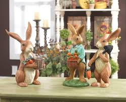 Garden Rabbits Decor 44 Best Spring Decorating Images On Pinterest Set Of Bunnies