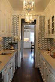 kitchen small galley kitchen design ideas with kitchen wallpaper