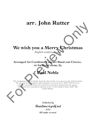 we wish you a merry by rutter arr j w pepper