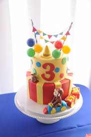curious george birthday cake braxly s curious george themed party a la carte