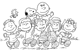 snoopy peanuts gang coloring free printable