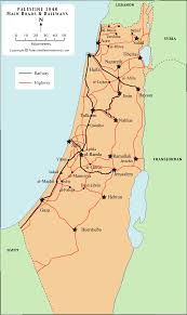Map Of Israel And Middle East by Palestine U0027s Main Roads And Railways Before Nakba Palestine