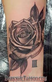 black and gray rose tattoo by marissa falanga tattoos