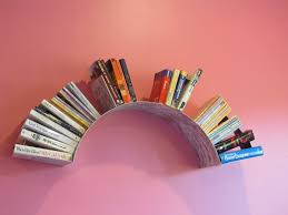 Cool Wall Designs by Cool Wall Bookshelves Design Feature 3 Colorful Stained Wooden