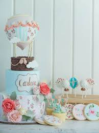 hot air balloon cake topper hot air balloon and shabby chic cake setcottontail cake studio