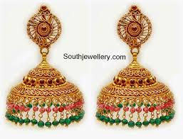 gold earrings jhumka design gold jhumka designs inside gold earrings jhumka