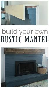 fireplace redo showing how to make a rustic wood mantle which i