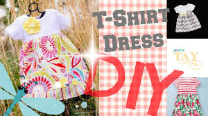 pattern dress baby girl diy easy t shirt dress 2 minute tutorials youtube