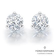 white gold diamond stud earrings forevermark diamond stud earrings in 18kt white gold 1 5 8ct tw