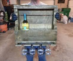 wine rack made out of a pallet 6 steps with pictures