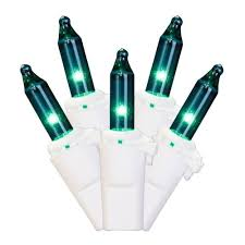 set of 100 teal green mini lights white wire
