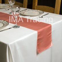 Blush Pink Table Runner Taffeta Table Runners