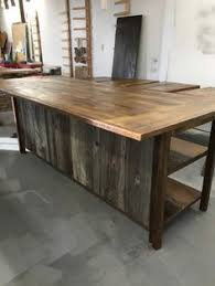 reclaimed barn wood kitchen island with wooden top kristin willard kristin willard on pinterest