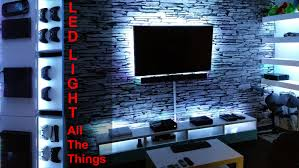 led strip rgb multicolor light lighting room with lights in