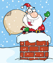 deliver presents free chimney clipart image santa going the chimney to