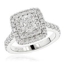 platinum halo engagement rings halo engagement ring setting 0 9ct luxurman mounting