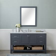 home design outlet center new jersey alya bath wilmington 60 in single bathroom vanity in gray with