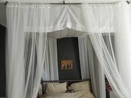 bedroom beautiful white design of canopy bed drapes in white wood