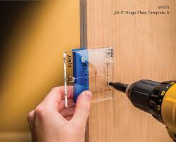 door hinges rockler simplifies concealed hinge installation jig