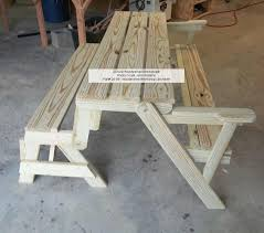 Picnic Table Plans Free Separate Benches by Bench That Converts Into A Picnic Table Diy Plans For Free