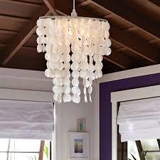 Pottery Barn Teen Lamps Oversize Capiz Chandelier Pbteen
