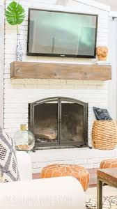 makeover your fireplace on cheap and easy