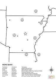 arkansas map worksheet coloring page free printable coloring pages