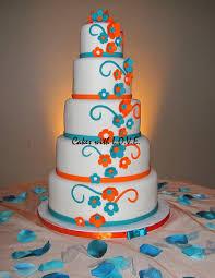 royal blue and orange wedding cakes casadebormela com