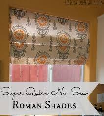 super quick no sew roman shades beauty tips happy and roman shades