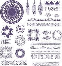 tribal bohemian mandala background with ornaments patterns