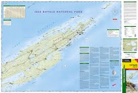 Map Of National Parks In Usa Isle Royale National Park National Geographic Trails Illustrated