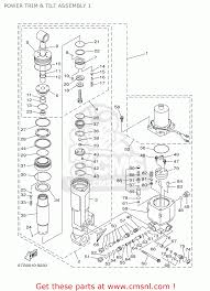 yamaha f80 f100tlry 2000 power trim u0026 tilt assembly 1 schematic